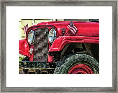 American Willys Framed Print by Adam Vance