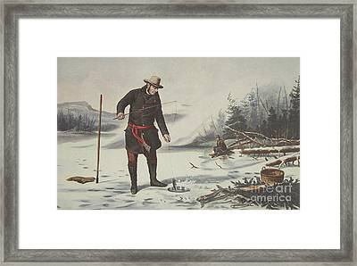 American Winter Sports  Trout Fishing On Chateaugay Lake Framed Print