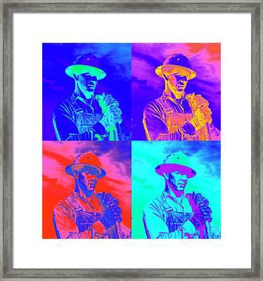 American Working Man Framed Print by Daniel Hagerman
