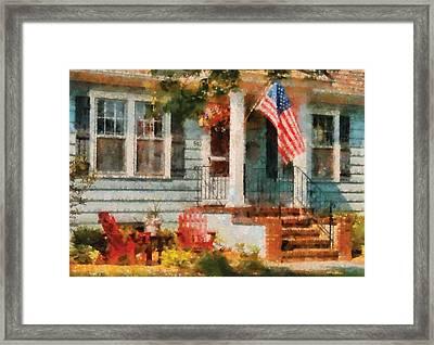 Americana - America The Beautiful Framed Print by Mike Savad