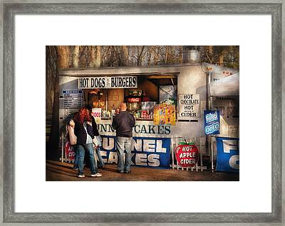 Americana - Food - Hot Dogs And Funnel Cakes Framed Print by Mike Savad