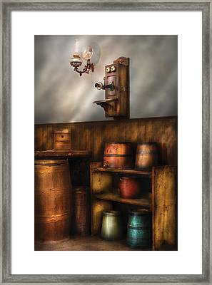 Americana -  In The Corner Of The General Store  Framed Print by Mike Savad