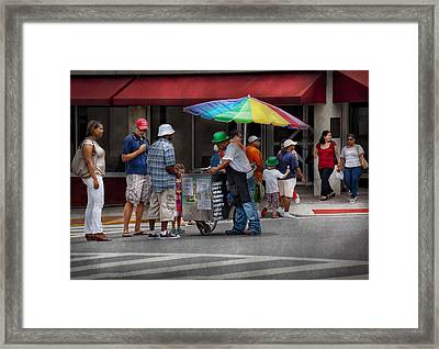 Americana - Mountainside Nj - Buying Ices  Framed Print by Mike Savad