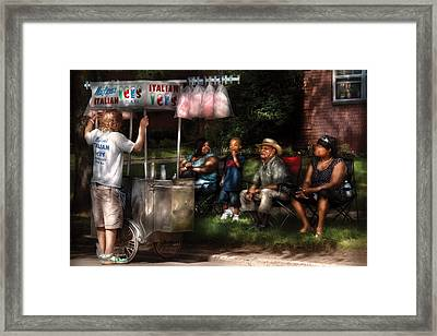 Americana - People - Buying Treats Framed Print by Mike Savad