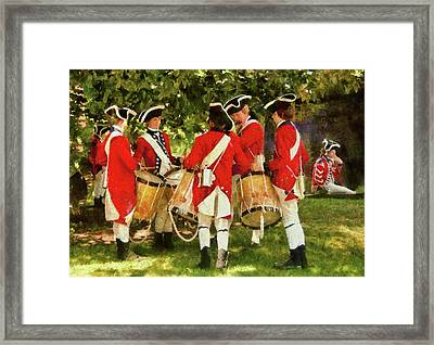 Americana - People - Preparing For Battle Framed Print by Mike Savad