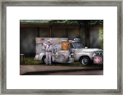 Americana -  We Sell Ice Cream Framed Print by Mike Savad