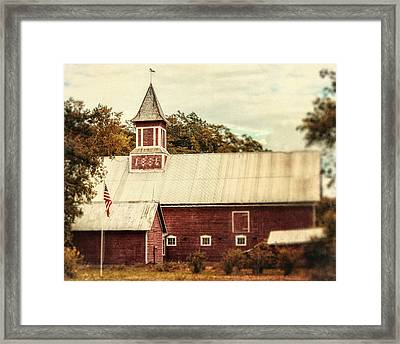 Americana Barn Framed Print by Lisa Russo