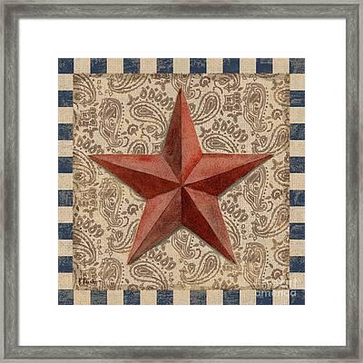 Americana Barn Star I Framed Print