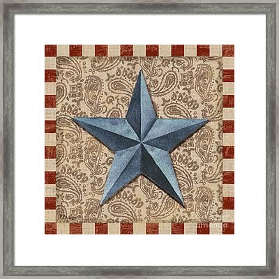Americana Barn Star II Framed Print