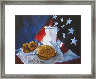 Americana Framed Print by LaVonne Hand