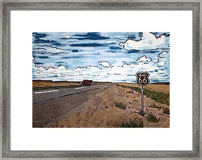 Americana No.1 Route 66 No. 6 Framed Print by Sheri Buchheit