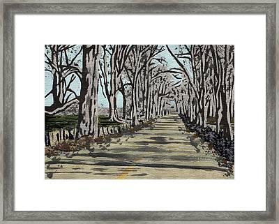 Americana No.3 Rural Road No.5 Framed Print by Sheri Buchheit