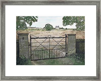 Americana No.7 Gate No.8 Framed Print by Sheri Buchheit