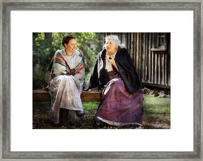Americana - People - Everything Was Better In The The Old Country Framed Print by Mike Savad