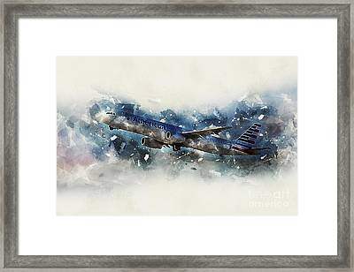 American_airlines Airbus A321-231  Framed Print