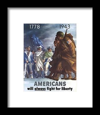 Revolutionary War Framed Prints