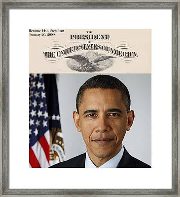 America's 44th President Framed Print by Philip Burrow