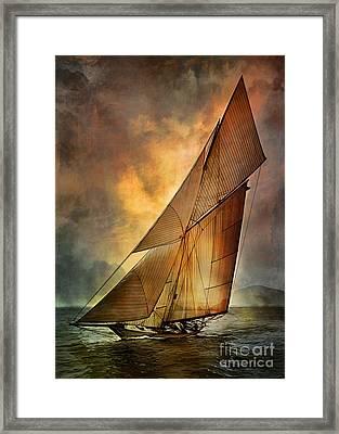Framed Print featuring the digital art America's Cup 1 by Andrzej Szczerski