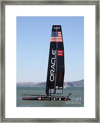 America's Cup In San Francisco - Oracle Team Usa 4 - 5d18225 Framed Print by Wingsdomain Art and Photography