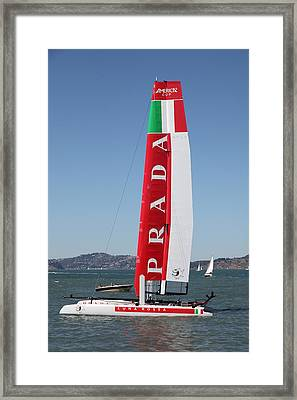America's Cup In San Francisco - Italy Luna Rossa Paranha Sailboat - 5d18216 Framed Print by Wingsdomain Art and Photography