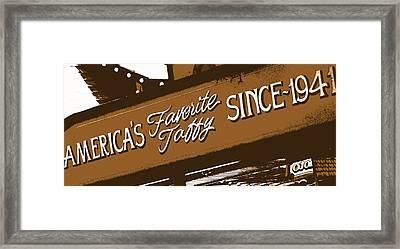 America's Favorite Taffy Framed Print