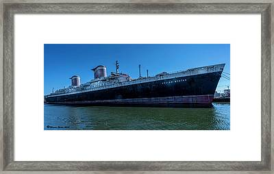 America's Flag Ship Framed Print by Marvin Spates