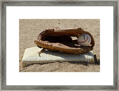 Americas Game - Baseball Framed Print by Bill Cannon