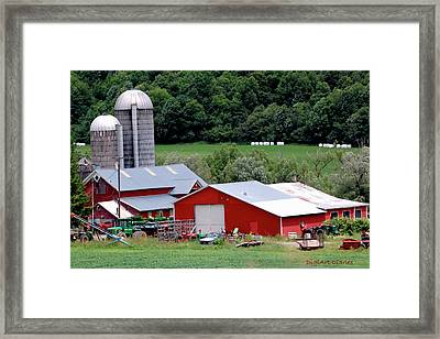 Americas Heartland Framed Print by DigiArt Diaries by Vicky B Fuller