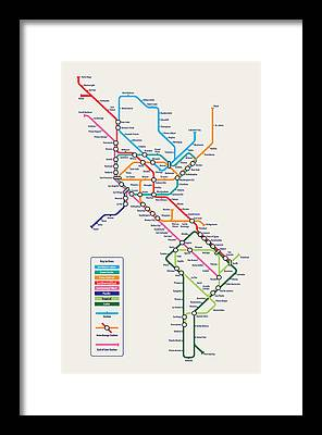 The Tube Framed Prints
