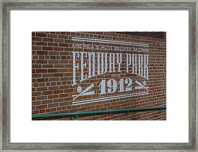 America's Most Beloved Ballpark - Fenway Framed Print
