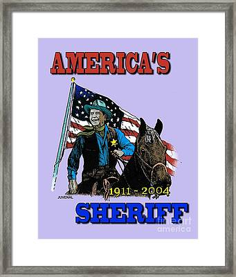 America's Sheriff Framed Print by Joseph Juvenal