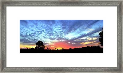 City On A Hill - Americus, Ga Sunset Framed Print by Jerry Battle