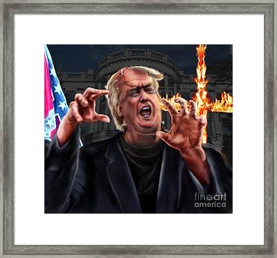 Amerikkkenstein Framed Print by Reggie Duffie