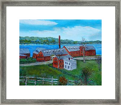 Amesbury Hat Shop Framed Print