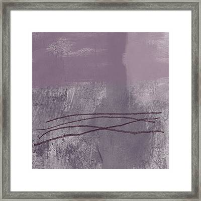 Amethyst 1- Abstract Art By Linda Woods Framed Print