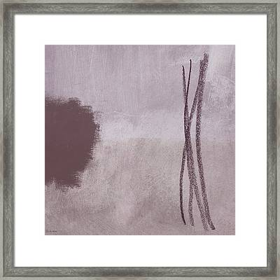 Amethyst 2- Abstract Art By Linda Woods Framed Print by Linda Woods