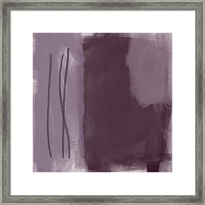 Amethyst 3- Abstract Art By Linda Woods Framed Print