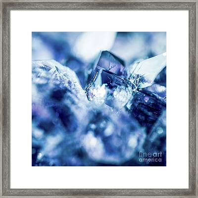 Framed Print featuring the photograph Amethyst Blue by Sharon Mau