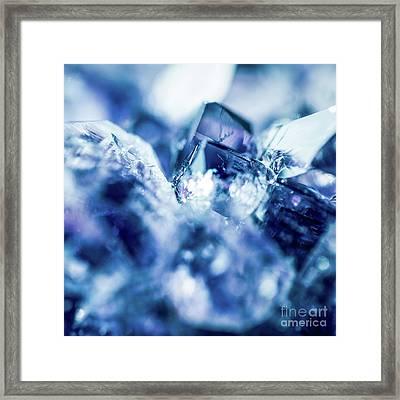 Amethyst Blue Framed Print by Sharon Mau