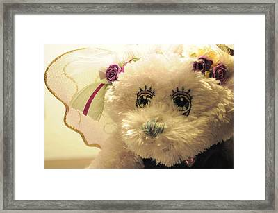 Amethyst Fairy Bear Framed Print