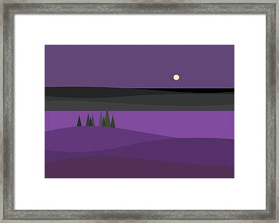 Amethyst Night Framed Print by Val Arie