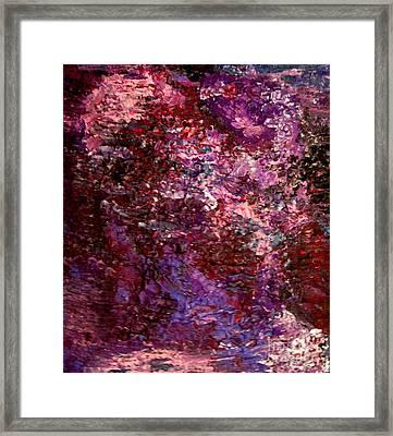 Amethyst Rock Crystal Framed Print by Shelly Wiseberg