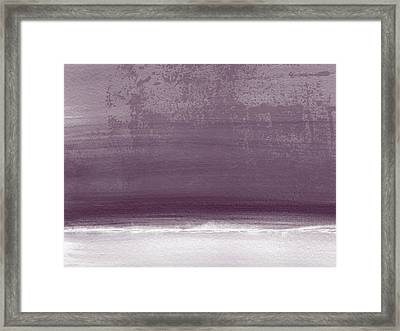 Amethyst Shoreline- Abstract Art By Linda Woods Framed Print by Linda Woods