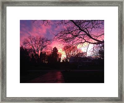 Amethyst Sunset Framed Print