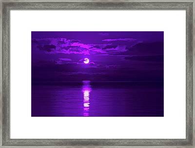 Amethyst Amazing Sunset Framed Print