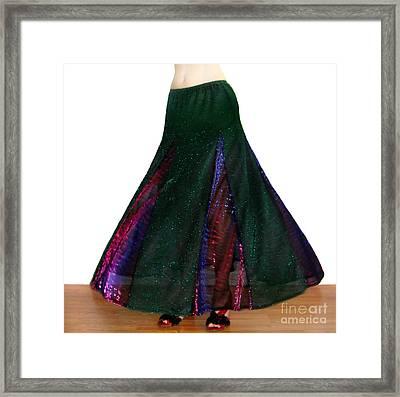 Ameynra Design. Sparkling Skirt 088 Framed Print