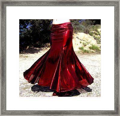 Ameynra Fashion Skirt. Mermaid Dance 02 Framed Print