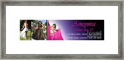 Ameynra Shop 15. Long Banner Framed Print