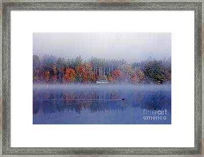 Amherst Lake Vt Framed Print by Butch Lombardi