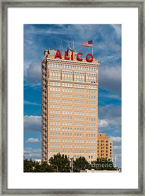 Amicable Life Insurance Company Building In Downtown Waco Texas Framed Print by Silvio Ligutti